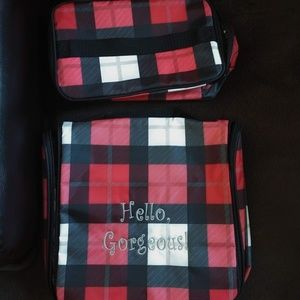 Glamour Case & Hanging Traveler Case in Check Mate